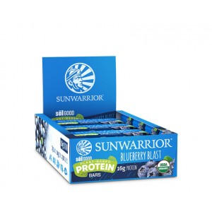 Sunwarrior Sol good barretta proteica - bio - Blueberry blast - 12 pack