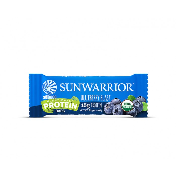 Sunwarrior Sol Good Barretta Proteica - Blueberry Blast