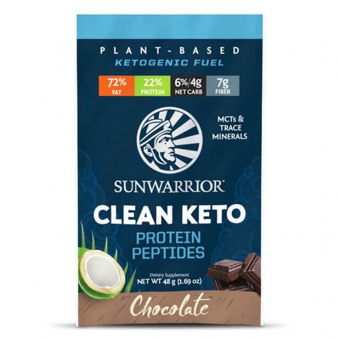 Clean keto protein peptides - chocolate - busta monodose da 48g