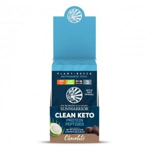 Clean keto protein peptides - chocolate -  multipack con 12 monodosi da 48g