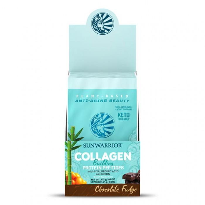 Collagen building protein peptides - chocolate fudge -  multipack con 12 monodosi da 25g