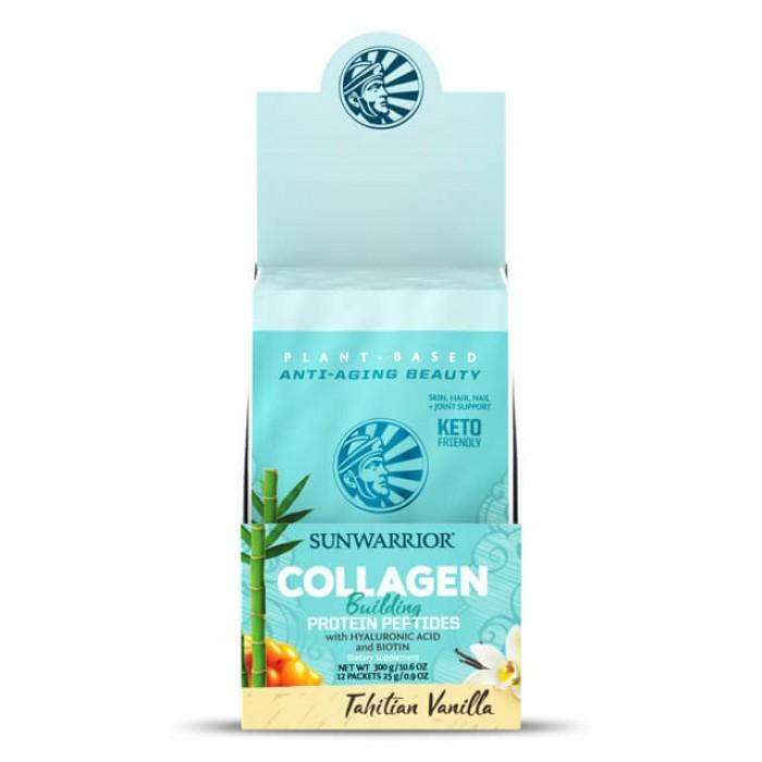 Collagen building protein peptides - Tahitian vanilla -  multipack con 12 monodosi da 25g