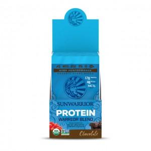 Sunwarrior Blend chocolate - bio - multipack con 12 monodosi da 25g