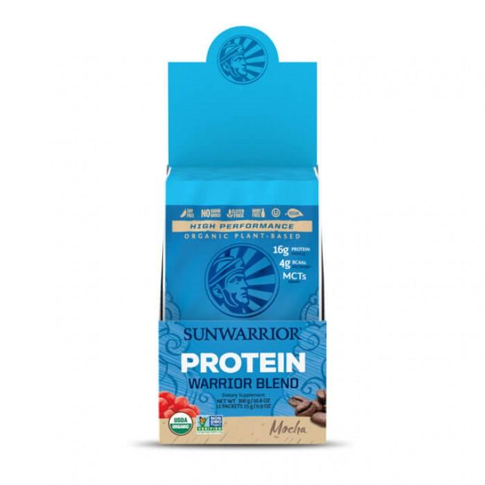 Sunwarrior Blend mocha - bio - multipack con 12 monodosi da 25g