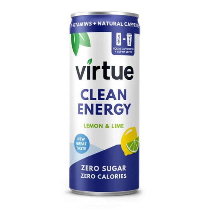 Energy drink Virtue - Limone e Lime - 12 x 250ml